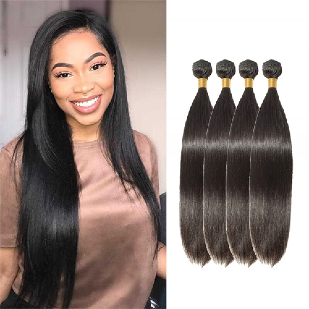 【 Segohair  8A 】4 Bundles Straight Virgin Brazilian Hair 400g