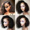 Pre-Plucked Brazilian Virgin Hair Lace Front Bob Wigs  Water Wave